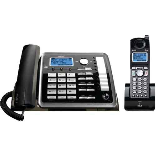 RCA 25255RE2 Dect_6.0 2-Handset 2-Line Landline Telephone,Black