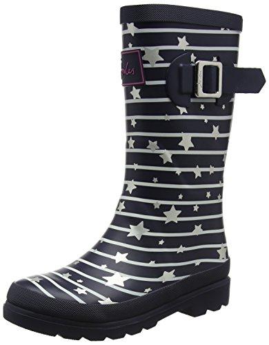 Joules S Welly, Botas de Agua Niños, Azul (Navy Stripe Star), 27 EU