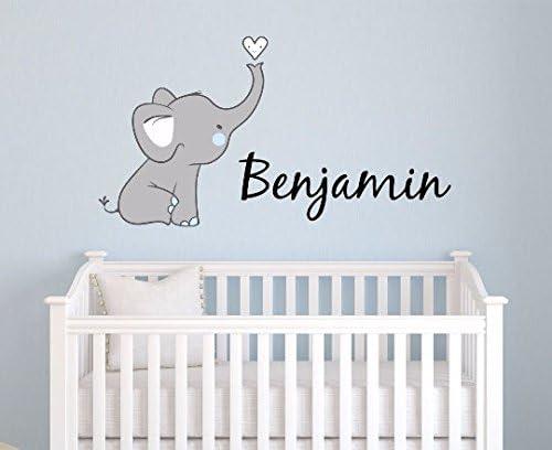 elephant themed boys nursery decor personalized baby boy bedroom door sign PK22