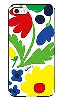 iPhoneSE (第2世代) iPhone8 iPhoneケース (ハードケース) [ミラー付き/カード収納/耐衝撃] お花ミックス アイフォンケース スマホケース 携帯電話用ケース CollaBorn Plune. (プルーン) (iPhone7対応)