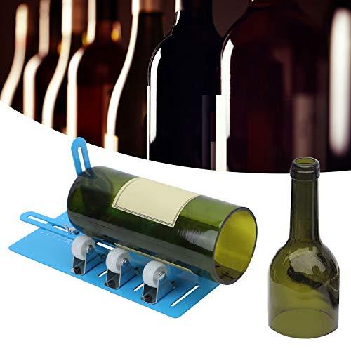 Jopwkuin Cortador de Botellas Redondas cuadradas de aleación de Aluminio, Cortador de Botellas de Vidrio, para Botellas