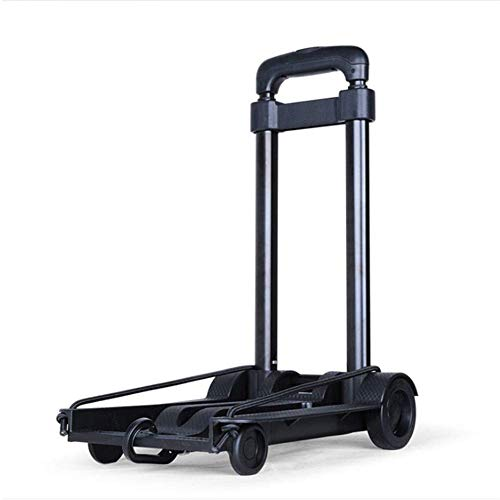 LLSS Folding Trolley,Hand Pulling Car Shopping Trolley Rolling Luggage Carts for The Elderly and Women Portable Family Mini Folding Travel