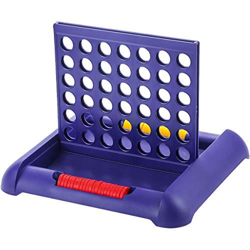 TOYANDONA Coloca 4 Mesa Juego de Habilidad Conecta 4 Juegos de Tablero (Azul)