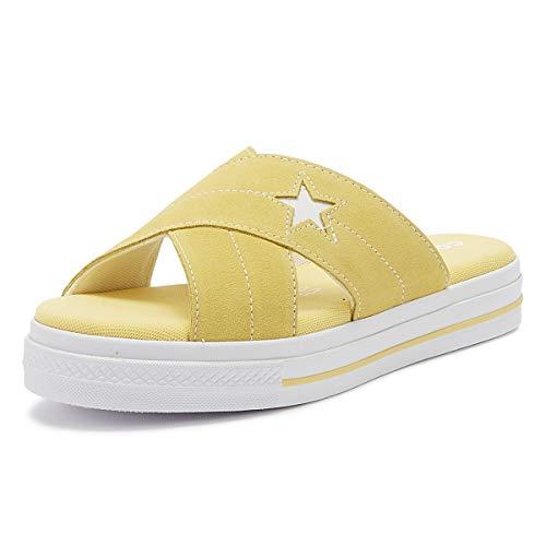 Converse One Star Damen Sandalen Gelb