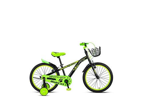 Descheemaeker - Bicicletta da bambino Bobcat 16', colore: Verde/Nero