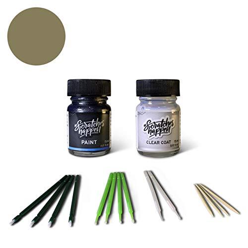 ScratchesHappen Exact-Match Touch Up Paint Kit Compatible with Jeep Light Khaki Metallic (JC/AJC/PJC) - Bottle, Essential