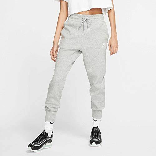 Nike Damen Sportswear Tech Fleece Hose, Dunkelgrau meliert/Silber matt/Weiß, 2XL