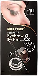 Music Flower Waterproof Eyebrow Tattoo & Eyeliner Set