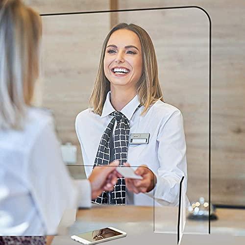 KMILE Protector antiestornudos portátil transparente enrollable para el suelo, pantalla transparente para oficinas, bibliotecas, gasolineras y tiendas (color: 200 x 100 cm, tamaño: 160 x 60 cm)