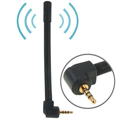 Sevenplusone licht en mooi, gemakkelijk te dragen. Hoogwaardige 6dBi 2,5 mm stereo FM- en televisie-antenne, lengte: 10,2 cm (zwart), eenvoudige installatie, zwart