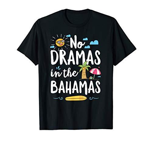 No Dramas In Bahamas Summer Vacation Beach Gift T-Shirt