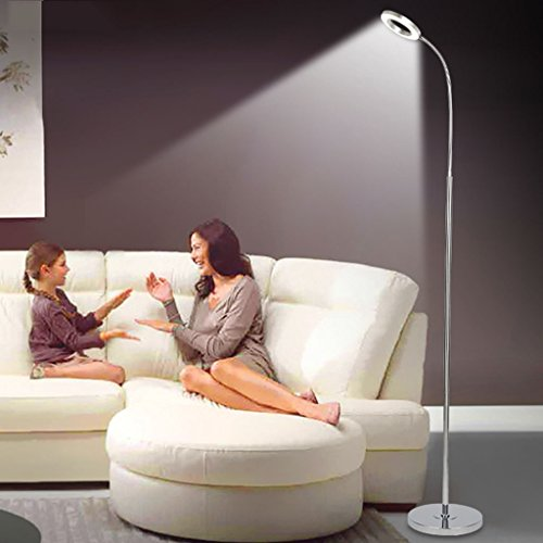 Stehleuchte Led Eye Protection Stehleuchte -360 Grad Rotation Wohnzimmer/Schlafzimmer/Studium/Klavier/Dimmen/Vertical Light [Energieklasse A +] (Color : White light)