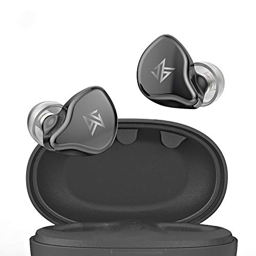 KZ S1 2WAY (Dynamic/BA) Hybrid Dual Driver in Ear Earphones,TWS True Wireless Bluetooth 5.0 Earbuds with Microphone, 3D Stereo Sound Headsets Sports Running Headphones for Cell Phone… (Grey)