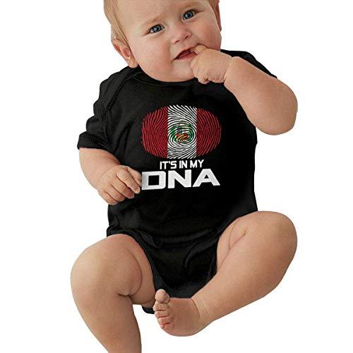 Peru It's in My DNA Baby Short Sleeve Newborn Boys Girls Crawling Suit Romper Jumpsuit