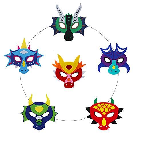 Flying Childhood Dragon Masks for Kids Party Favors, Toddler Boys Girls Dinosaur Dress Up Costume