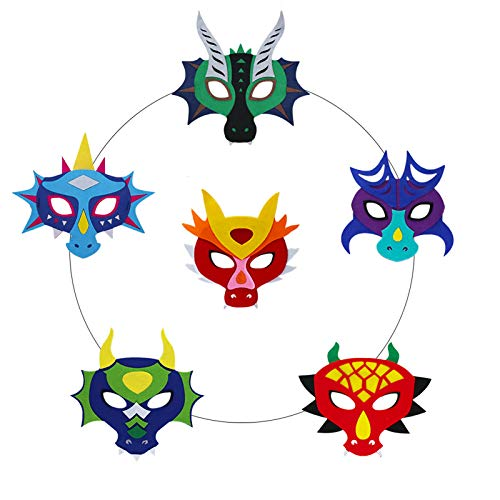 Flying Childhood Dragon Masks for Kids Adults Party Favors, Toddler Boys Girls Dinosaur Dress Up Costume