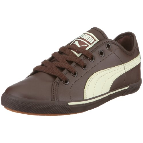 PUMA 351674 01 Benecio Jr, Unisex - Kinder Halbschuhe, Braun (chocolate brown-hay 01), EU 32, (US 1), (UK 13)