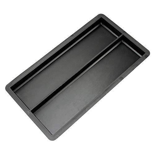 @tec Betonform Schalungsform für Wandfliesen Gießform Plastikformen für Beton - Klinker, Wandverkleidung, Wandverblender, Verblendsteine für innen/außen, Riemchen 23,5x5,8x2cm (je Wandfliese)