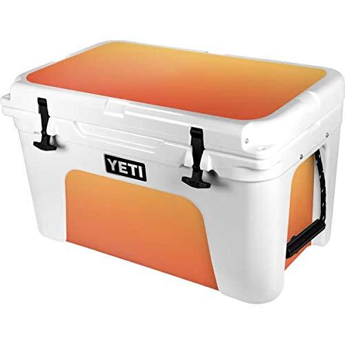 Skinit Decal Skin Compatible with YETI Tundra 45 Hard Cooler - Originally Designed Orange Ombre Design