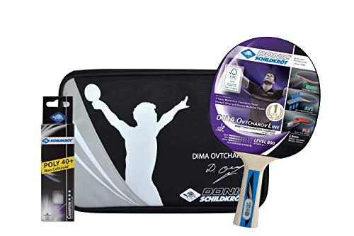Donic-Schildkröt Set Tischtennis Geschenkset OVTCHAROV 800 FSC 1 Schläger 3 Bälle Hülle, Farbe, One Size