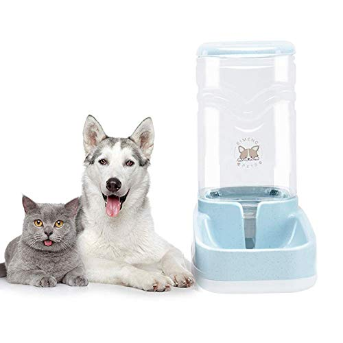 Old Tjikko Dog Water Dispenser,Pet Automatic Waterer,3.8L Gravity Water Dispenser Station Self-Dispensing Drinking Fountain for Cats/Dogs Bowl