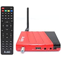 Receptor decodificador satelite y Reproductor Multimedia Jiubei JDT-1 HD con Antena WiFi