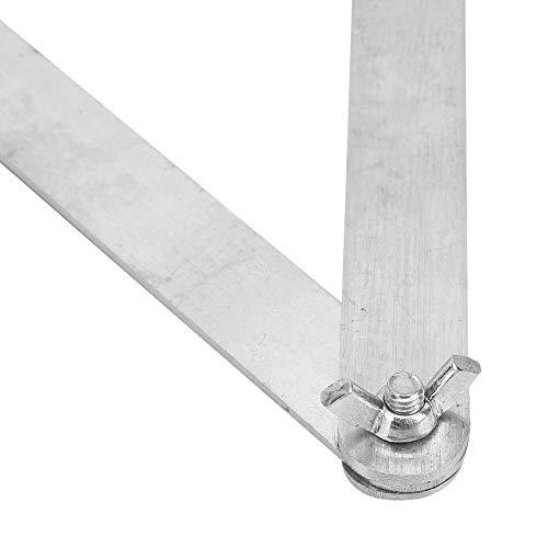 Regla de línea plegable de superficie chapada en zinc, regla de línea plegable, suministros de carpintería de acero al carbono para herramientas de carpintero Herramientas de carpintería(400mm)