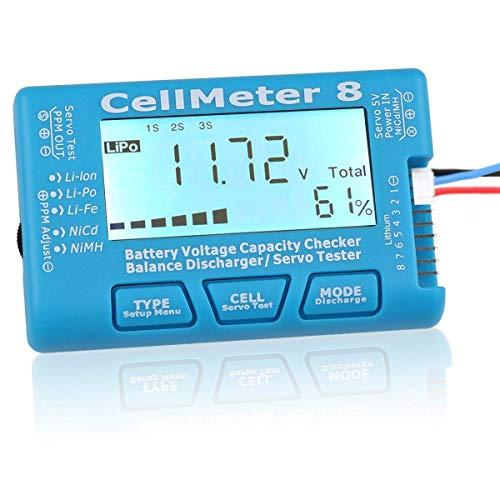 DollaTek Tester di capacità della Batteria Digital RC con retroilluminazione LCD per Batteria Lid Ion NiMH LiPo Life