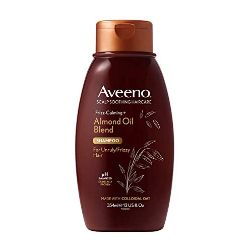 Aveeno Hair Itchy Scalp Soothing & Anti Frizz Hair Shampoo with for Hair Prone to Frizz, Almonds,...
