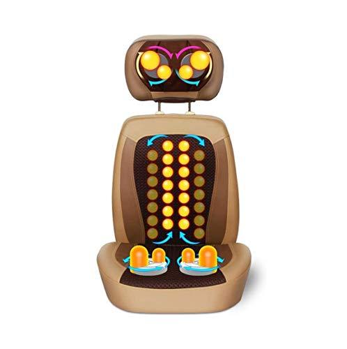 ZOUSHUAIDEDIAN Masajeador de espalda y cuello, Cojín de silla de masaje, Masajeador de cuello, 3D Masaje de amasado completo for cuello Hombro trasero Cadera, Calefacción y Vibración, for Hogar y Ofic