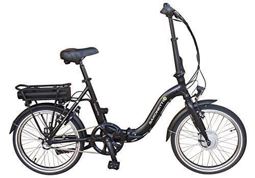 SAXONETTE Compact Plus Faltrad Klapprad E-Bike Pedelec Vorderradmotor 7,8Ah 250W 36V Lithium-Ionen Akku Shimano 3Gang Nabenschaltung mit Rücktritt (Schwarz)