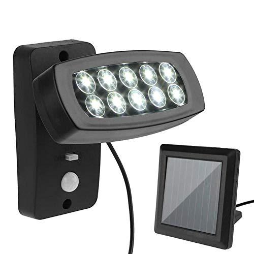 Solarleuchte mit Bewegungsmelder, 10 LEDs, wasserdicht, für den Außenbereich