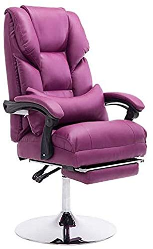 N/Z Home Equipment Office Chair Computer Chair with Footrest Office Chair Boss Chair Lift Swivel Chair Reclining Beauty Salon Customer Experience Chair (Size : Black)