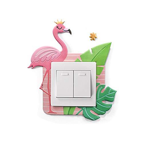 PiniceCore Sala de Dibujos Animados del Unicornio Animales Cubierta decoración Pared 3D de Silicona Encendido-Apagado el Interruptor Luminoso Interruptor de la luz de Salida Etiqueta de la Pared