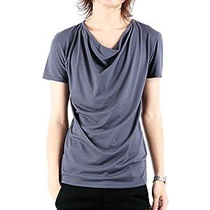 roshell(ロシェル) ドレープ Tシャツ メンズ Tシャツ メンズ カットソー メンズ 半袖T メンズ 半袖Tシャツ メンズ S グレー