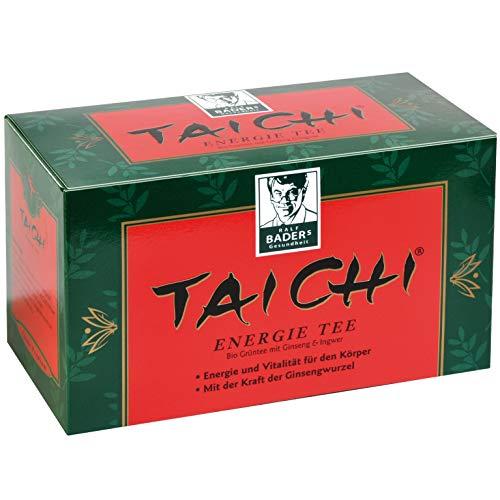 BADERs de la farmacia. Té energético Tai Chi. Té verde orgánico para más energía y vitalidad. Con el poder de la raíz de ginseng. 20 bolsas filtrantes