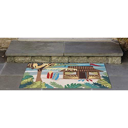 Liora Manne Frontporch Front Porch Coastal Summer Tiki Hut Multi Indoor/Outdoor Rug, 2'6