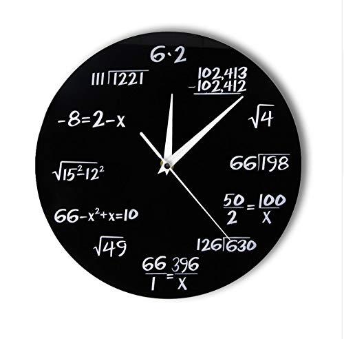 Menddy Números De Ingeniería Matemáticas Reloj De Pared Ecuación Matemática Reloj Decorativo Pop Quiz Arte De La Pared Regalo De La Ciencia para Las Matemáticas Frikis Y Profesores 12 Pulgadas