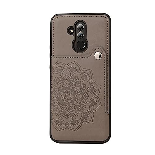 BAIYUNLONG Funda Protectora, para Huawei Mate20 Lite Teléfono Teléfono Teléfono Titular de la Tarjeta, Botones magnéticos de Cuero PU a Prueba de Golpes Patiness Patterstand para Huawei Mate20 Lite