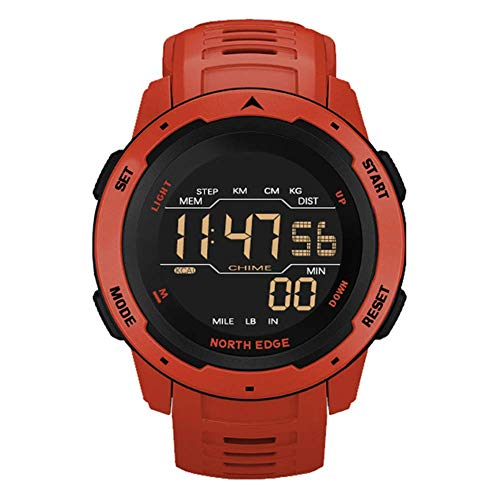 SVUZU Reloj Deportivo Inteligente, Reloj Digital para Hombres, Reloj Militar Impermeable para Exteriores de 50 m con podómetro/Contador de calorías/cronómetro, Reloj de Pulsera Adecuado