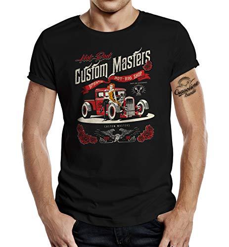 Rockabilly Hotrod Racer T-Shirt: Hot-Rod Shop S