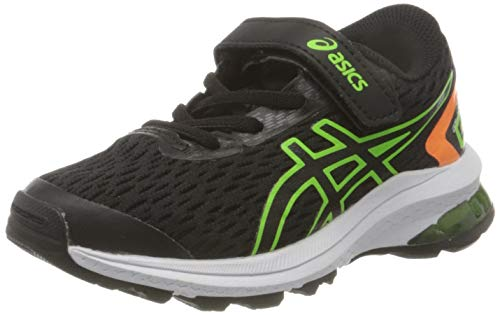 Asics GT-1000 9 PS, Zapatos para Correr, Black/Green Gecko, 35 EU