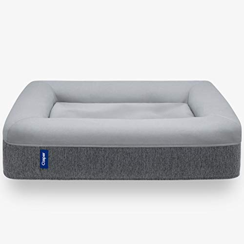 Casper Dog Bed, Plush Memory Foam, Large, Gray