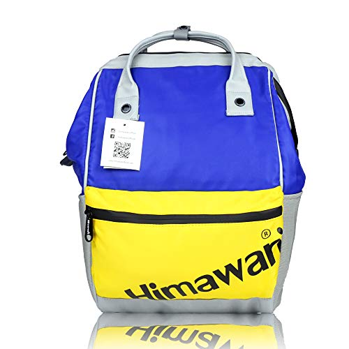 Himawari,School Backpack Waterproof Vintage College Travel Bag for Women, 13 Inch Laptop for Students (Blue&Yellow)