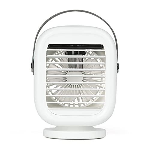 Tieguo - Aire acondicionado portátil con mango Mini ventilador de niebla personal 3 velocidades humidificador de escritorio ventilador de refrigeración en casa oficina