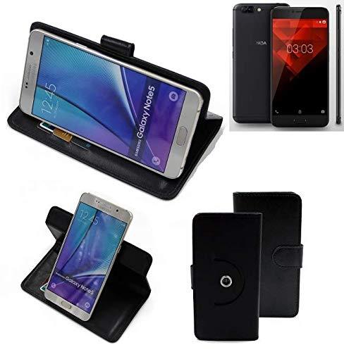 K-S-Trade® Handy Hülle Für NOA H10le Flipcase Smartphone Cover Handy Schutz Bookstyle Schwarz (1x)