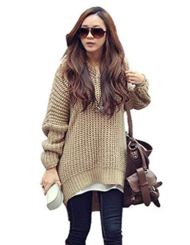 Damen Kapuzenpullover Herbst Winter Warm Thermo Strickpullover Hipster Fashion Jungen Chic Trendigen Elegant Pullover Unifarben Langarm V-Ausschnitt Unregelmäßig Hoodie Kapuzenpullis