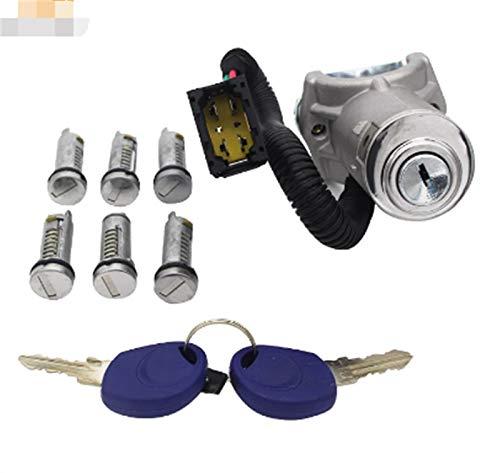 XIAOFANG Ajuste para Iveco Daily 2006-2012 Interruptor de Encendido Cerradura de Barril Set 7pcs