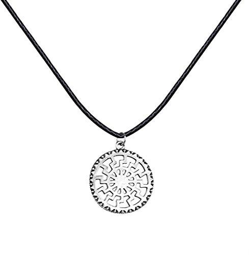 OlovdHit Jewelry-Gifts-Necklaces Halskette Damen Halskette Sonne Pirat Patina Paar Perfektes Schmuck Geschenk
