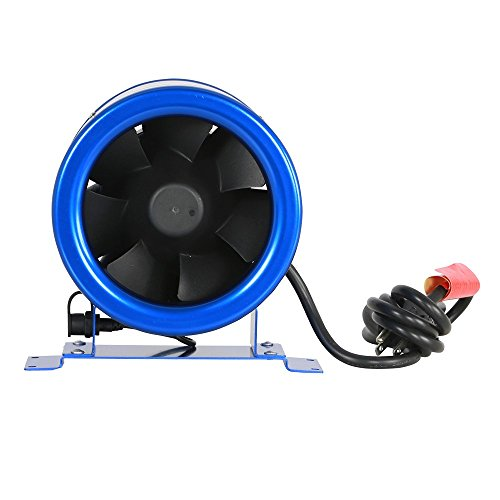 Hyper Fan GL56701400 Digital Mixed Flow 6 Inch | Energy Efficient,Quiet Operation, Includes Speed Controller-ETL Listed Built-in-Household-Ventilation-Fans, 6-Inch, natural